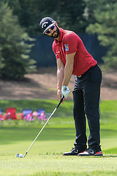 August 9, 2018 - Town And Country, Missouri, U.S - ADAM HADWIN from Canada lines up his tee shot on hole number 13 during round one of the 100th PGA Championship on Thursday, August 8, 2018, held at Bellerive Country Club in Town and Country, MO (Photo credit Richard Ulreich / ZUMA Press) (Credit Image: © Richard Ulreich via ZUMA Wire)