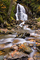 Moss Glenn Falls in autumn located in the Green Mountains near Granville Vermont USA beautiful