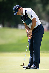 August 5, 2018 - Akron, OH, U.S. - AKRON, OH - AUGUST 05:   Sergio Garcia (ESP) putts on the fifth green during the final round of the World Golf Championships - Bridgestone Invitational on August 5, 2018 at the Firestone Country Club South Course in Akron, Ohio. (Photo by Shelley Lipton/Icon Sportswire) (Credit Image: © Shelley Lipton/Icon SMI via ZUMA Press)