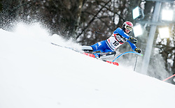"""Irene Curtoni (ITA) competes during 1st Run of FIS Alpine Ski World Cup 2017/18 Ladies' Slalom race named """"Snow Queen Trophy 2018"""", on January 3, 2018 in Course Crveni Spust at Sljeme hill, Zagreb, Croatia. Photo by Vid Ponikvar / Sportida"""