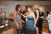BEVERLEY KNIGHT;  DANNII MINOGUE; , Tea party in celebration of Project D by Dannii and Tabitha at Harvey Nicholls. Knightsbridge. London. 26 October 2010.  ( This is the launch of a fragrance by Dannii Minogue and Tabitha Somerset Webb ..) and -DO NOT ARCHIVE-© Copyright Photograph by Dafydd Jones. 248 Clapham Rd. London SW9 0PZ. Tel 0207 820 0771. www.dafjones.com.