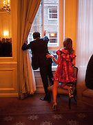 ARPAD BUSSON; HEATHER KERZNER, Dinner to mark 50 years with Vogue for David Bailey, hosted by Alexandra Shulman. Claridge's. London. 11 May 2010 *** Local Caption *** -DO NOT ARCHIVE-© Copyright Photograph by Dafydd Jones. 248 Clapham Rd. London SW9 0PZ. Tel 0207 820 0771. www.dafjones.com.<br /> ARPAD BUSSON; HEATHER KERZNER, Dinner to mark 50 years with Vogue for David Bailey, hosted by Alexandra Shulman. Claridge's. London. 11 May 2010