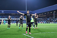 Anthony Knockaert celebrates victory at the final whistle of the EFL Sky Bet Championship match between Queens Park Rangers and Brighton and Hove Albion at the Loftus Road Stadium, London, England on 7 April 2017.