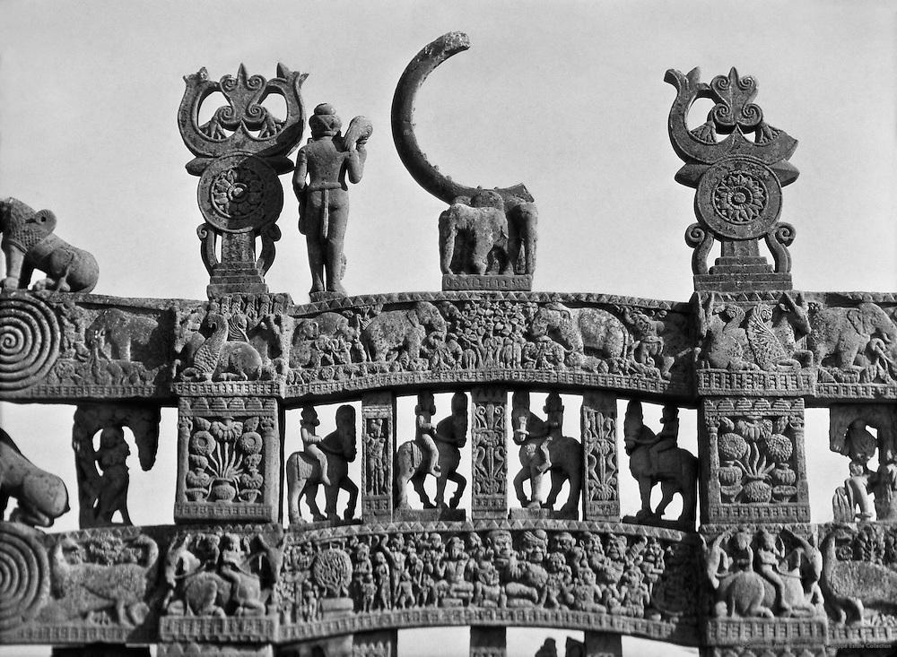 North Gate, Sanchi, 1929