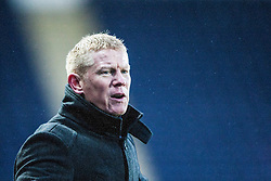 Falkirk's manager Gary Holt  after Conor McGrandles brought down for a penalty claim.<br /> Falkirk 1 v 1 Morton, Scottish Championship game today at The Falkirk Stadium.<br /> © Michael Schofield.