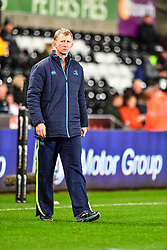 Leinster's Head Coach Leo Cullen during the pre match warm up<br /> <br /> Photographer Craig Thomas/Replay Images<br /> <br /> Guinness PRO14 Round 18 - Ospreys v Leinster - Saturday 24th March 2018 - Liberty Stadium - Swansea<br /> <br /> World Copyright © Replay Images . All rights reserved. info@replayimages.co.uk - http://replayimages.co.uk