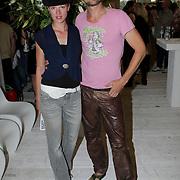 NLD/Amsterdam/20080726 - Modeshow Blue Blood tijdens de AIFW 2008, Sebastiaan Labrie en partner Kim Vos