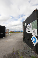 Car park site at Clongriffin Railway Station at the recent development Clongriffin Town Centre Dublin Ireland