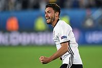 esultanza gol Jonas Hector goal celebration<br /> Paris 02-07-2016 Parc des Princes Football Euro2016 Germany - Italy/ Germania - Italia<br /> Round of 4, Foto Matteo Gribaudi/Image Sport/ Insidefoto