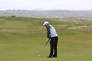 Joshua Hill (Galgorm Castle) the 18th green during Round 3 of the Ulster Boys Championship at Donegal Golf Club, Murvagh, Donegal, Co Donegal on Friday 26th April 2019.<br /> Picture:  Thos Caffrey / www.golffile.ie