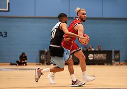 Jordan Nicholls of Bristol Flyers in possession - Photo mandatory by-line: Arron Gent/JMP - 28/04/2019 - BASKETBALL - Surrey Sports Park - Guildford, England - Surrey Scorchers v Bristol Flyers - British Basketball League Championship