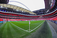 A general view inside Wembley Stadium prior to the The FA Cup semi-final match between Manchester City and Brighton and Hove Albion at Wembley Stadium, London, England on 6 April 2019.