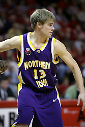09 January 2007: Adam Viet. The Illinois State Redbirds, winless in the Missouri Valley Conference, knocked off the undefeated  Panthers of Northern Iowa 67-64 in overtime at Redbird Arena in Normal Illinois on the campus of Illinois State University.<br />