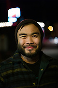 AUSTIN, TX –JANUARY 2013: Chef Paul Qui outside of the Grackle restaurant.