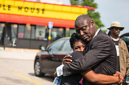 Saraland Alabama, May 20, 2018, Chikesia Clemons  at a Waffle House in Saraland Alabama with her civil rights attorney Benjamin Crump after a march for justice held on her behalf in Saraland.
