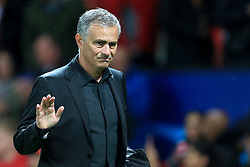 12th September 2017 - UEFA Champions League - Group A - Manchester United v FC Basel - Man Utd manager Jose Mourinho acknowledges the support after the match - Photo: Simon Stacpoole / Offside.