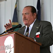 CANASTOTA, NY - JUNE 14: Referee Steve Smoger speaks during his induction ceremony at the International Boxing Hall of Fame induction Weekend of Champions events on June 14, 2015 in Canastota, New York. (Photo by Alex Menendez/Getty Images) *** Local Caption *** Steve Smoger