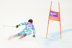 January 19, 2018 - Cortina D'Ampezzo, Dolimites, Italy - Greta Small of Australia competes  during the Downhill race at the Cortina d'Ampezzo FIS World Cup in Cortina d'Ampezzo, Italy on January 19, 2018. (Credit Image: © Rok Rakun/Pacific Press via ZUMA Wire)