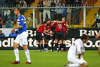 Genova 30-10-2004<br /> <br /> Campionato  Serie A Tim 2004-2005<br /> <br /> Sampdoria Milan<br /> <br /> nella  foto esultanza del Milan<br /> <br /> Milan Players celebrate Shevchenko goal<br /> <br /> Foto Snapshot / Graffiti