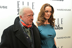 DAVID BAILEY & CATHERINE BAILEY at the 17th Elle Style Awards 2014 in association with Warehouse held at One Embankment, 8 Victoria Embankment, London on 18th February 2014.