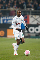 FOOTBALL - FRENCH CHAMPIONSHIP 2011/2012 - L1 - OLYMPIQUE DE MARSEILLE v LILLE OSC - 15/01/2012 - PHOTO PHILIPPE LAURENSON / DPPI - ALOU DIARRA (OM)