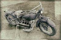 Vintage Spandau Police Department Motorcycle at the Old Rhinebeck Aerodrome