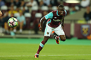 Enner Valencia of West Ham United in action. .UEFA Europa league, 3rd qualifying round match, 2nd leg, West Ham Utd v NK Domzale at the London Stadium, Queen Elizabeth Olympic Park in London on Thursday 4th August 2016.<br /> pic by John Patrick Fletcher, Andrew Orchard sports photography.