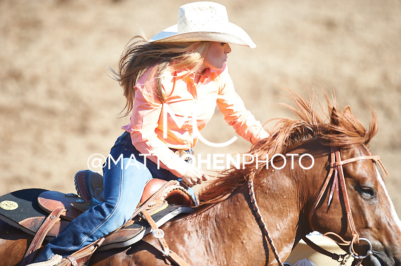 Barrel racer Samantha Lyne of Cotulla, TX competes at the Clovis Rodeo in Clovis, CA.<br /> <br /> <br /> UNEDITED LOW-RES PREVIEW<br /> <br /> <br /> File shown may be an unedited low resolution version used as a proof only. All prints are 100% guaranteed for quality. Sizes 8x10+ come with a version for personal social media. I am currently not selling downloads for commercial/brand use.