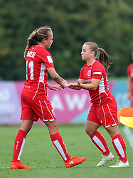 Claire Emslie of Bristol City Women is replaced by Paige Sawyer of Bristol City Women - Mandatory by-line: Paul Knight/JMP - 24/09/2016 - FOOTBALL - Stoke Gifford Stadium - Bristol, England - Bristol City Women v Durham Ladies - FA Women's Super League 2