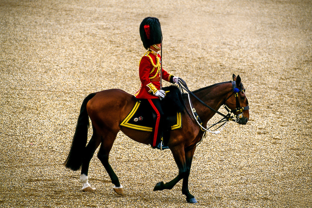 Trooping the Color, Queen Elizabeth II's birthday parade, Horse Guards Parade,  London, England