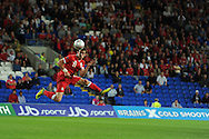 Gareth Bale of Wales. Euro 2012 Qualifying match, Wales v Montenegro at the Cardiff City Stadium in Cardiff  on Friday 2nd Sept 2011. Pic By  Andrew Orchard, Andrew Orchard sports photography,