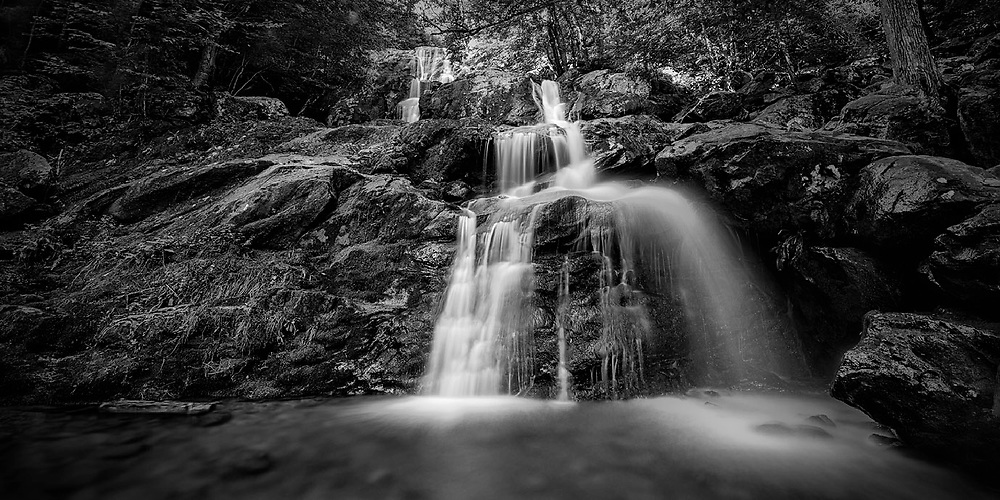 Beautiful waterfall in Shenandoah National Park, VA.