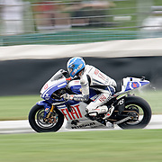 August 8, 2009, Jorge Lorenzo practices during Free Practice 1 at the Red Bull Indianapolis Grand Prix.