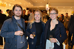 Left to right, FELIX CONRAN, his mother SOPHIE CONRAN and her daughter COCO CONRAN at the launch of the Conran Shop at Selfridge's, Oxford Street, London on 22nd September 2015.