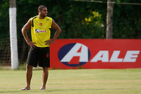 20091201: RIO DE JANEIRO, BRAZIL - Flamengo training session at CT Ninho Urubu training center. Brazilian football star Adriano recovering after burning his foot in a domestic accident. With one round left to the end of the Brazilian League, Flamengo is leading the championship. In picture: Adriano. PHOTO: CITYFILES