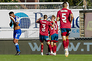 GOAL, 0-2. Ipswich Town midfielder Jon Nolan (11) celebrates scoring with his team mates during the EFL Sky Bet League 1 match between Bristol Rovers and Ipswich Town at the Memorial Stadium, Bristol, England on 19 September 2020.