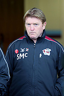 Scunthorpe United Manager Stuart McCall  prior to the EFL Sky Bet League 1 match between Scunthorpe United and Plymouth Argyle at Glanford Park, Scunthorpe, England on 27 October 2018. Pic Mick Atkins