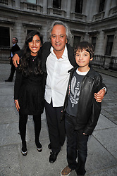 ANISH KAPOOR  and his children ALBA and ISHAN attend the private view of Anish Kapoor's latest exhibition at the Royal Academy of Arts, Piccadilly, London on 22nd September 2009