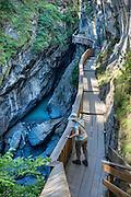 Gorner Gorge (Gornerschlucht). Zermatt, Switzerland, the Alps, Europe.