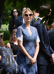 Jared Kushner and Ivanka Trump attend a press conference in the Rose Garden of the White House on July 25, 2017 in Washington, DC. . Photo by Olivier Douliery/ Abaca