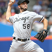 NEW YORK, NEW YORK - June 01:  Pitcher Miguel Gonzalez #58 of the Chicago White Sox pitching during the Chicago White Sox  Vs New York Mets regular season MLB game at Citi Field on June 01, 2016 in New York City. (Photo by Tim Clayton/Corbis via Getty Images)