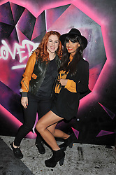 Left to right, Singer KATY B and JAMEELA JAMIL at a party tocelebrate the launch of Diesel's new female fragrance 'Loverdose' held at The Box, 11-12 Walkers Court, Brewer Street, London on 7th September 2011.