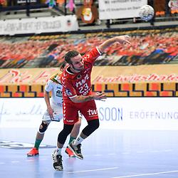 Ludwigshafens Durak, Pascal (Nr.23) beim 7. Meter beim Spiel in der Handball Bundesliga, Die Eulen Ludwigshafen - HSG Wetzlar.<br /> <br /> Foto © PIX-Sportfotos *** Foto ist honorarpflichtig! *** Auf Anfrage in hoeherer Qualitaet/Aufloesung. Belegexemplar erbeten. Veroeffentlichung ausschliesslich fuer journalistisch-publizistische Zwecke. For editorial use only.