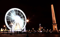 Ferris wheel and Christmas tree at the Place de la Concorde in Paris, France, December 23, 2012. Photo by Imago / i-Images...UK ONLY