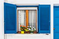 Parikia, Paros, Greece - July 2021: Street Of Parikia