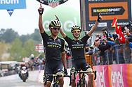 Arrival Johan Esteban Chaves (COL - Mitchelton - Scott) - Simon Yates (GBR - Mitchelton - Scott) during the 101th Tour of Italy, Giro d'Italia 2018, stage 6, Caltanissetta - Etna 163 km on May 10, 2018 in Italy - Photo Luca Bettini / BettiniPhoto / ProSportsImages / DPPI