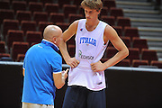 Danzica - Polonia 03 Agosto 2012 - Nazionale Italia Maschile Allenamento - <br /> Nella Foto : LUCA DALMONTE ACHILLE POLONARA<br /> Foto Ciamillo