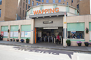 Wapping Overground Station in the East London neighborhood of Wapping, CREDIT: Vanessa Berberian for The Wall Street Journal. WAPPING