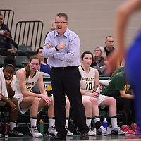 Head Coach Dave Taylor of the Regina Cougars during the home opener  on November  4 at Centre for Kinesiology, Health and Sport. Credit: /Arthur Images