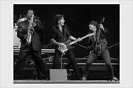 Bruce Springsteen with Clarence Clemons and Steve Van Zandt. Helsinki, Finland, June 16, 2003.